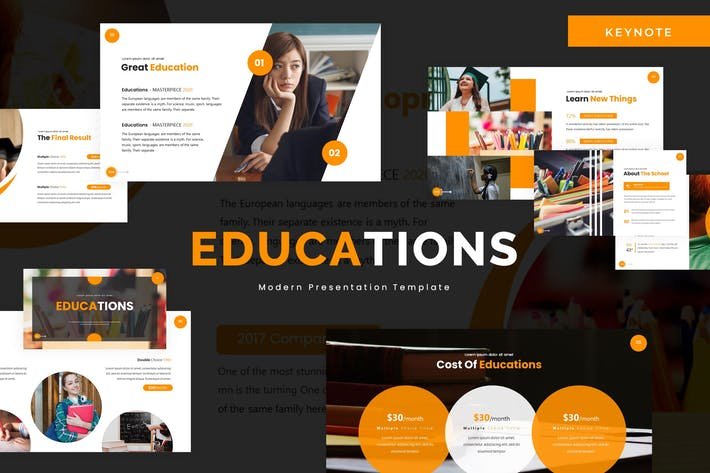 Thumbnail for Educations - Keynote Template