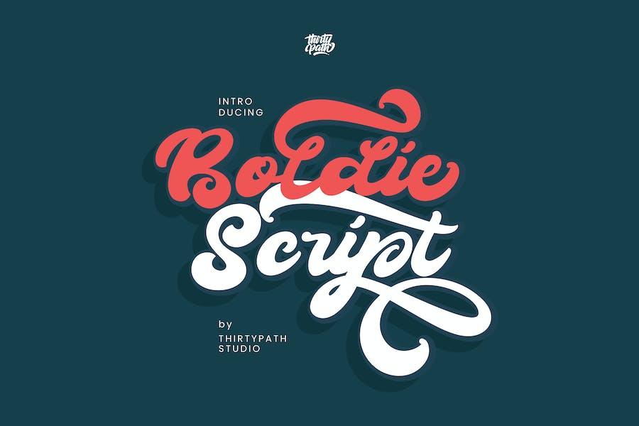 Boldie Script Font