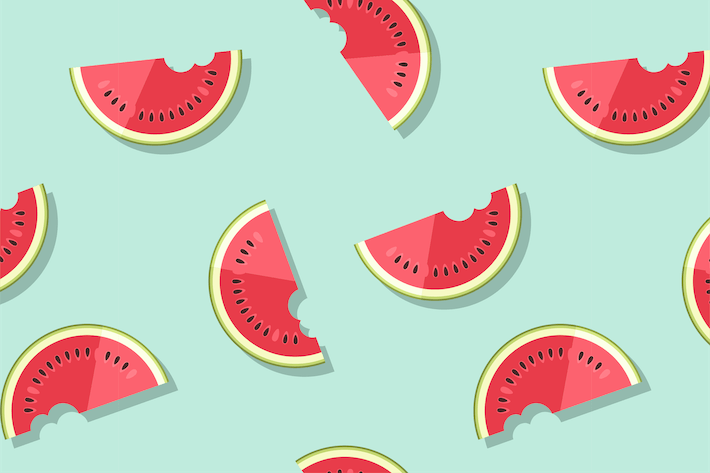 Thumbnail for Seamless Pattern with Watermelon Slices