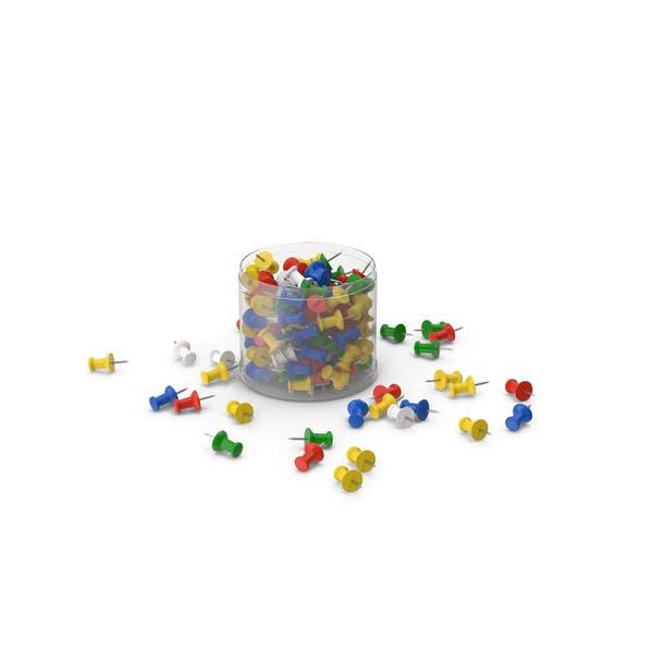 Пластиковая коробка Push Pins