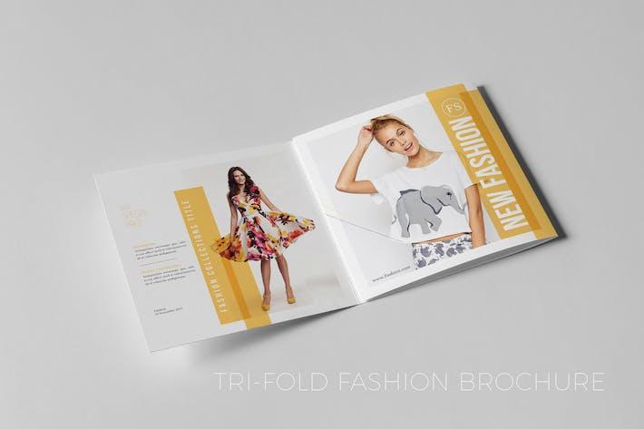 Thumbnail for Square Tri-Fold Fashion Brochure