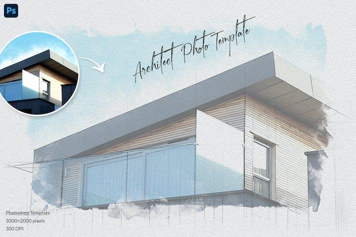 Шаблон фотографии Sketch архитектора