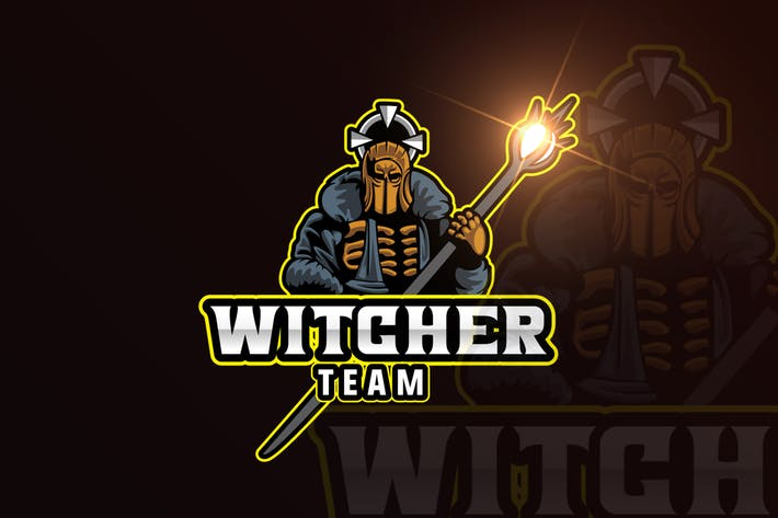 Thumbnail for Witcher Gaming Mascot & eSports Gaming Logo