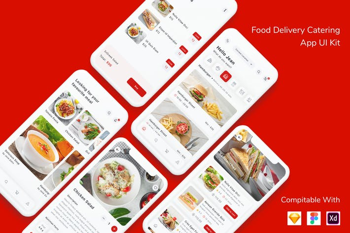 Cover Image For Food Delivery Catering App UI Kit