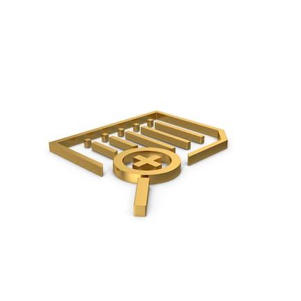 Gold Symbol Document Zoom
