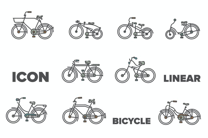 Thumbnail for Bicycle Linear Icon
