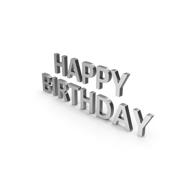 Thumbnail for Alles Gute zum Geburtstag Symbol Silber