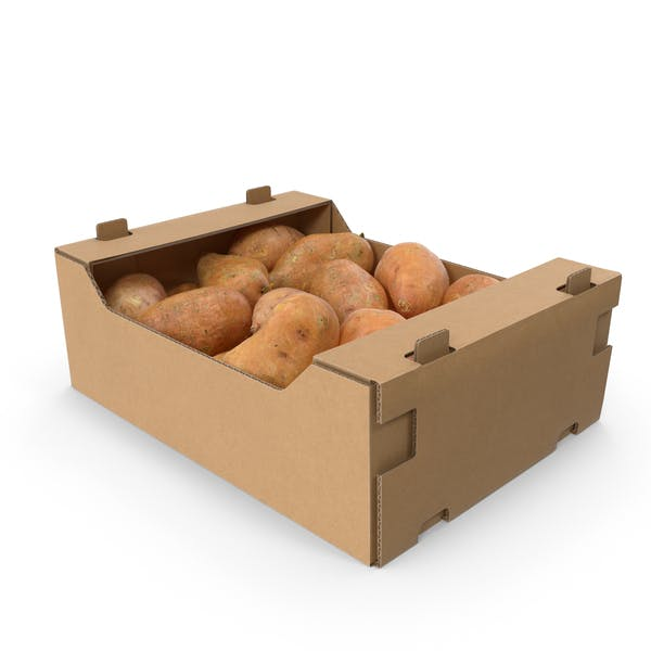 Thumbnail for Cardboard Display Box With Sweet Potatoes