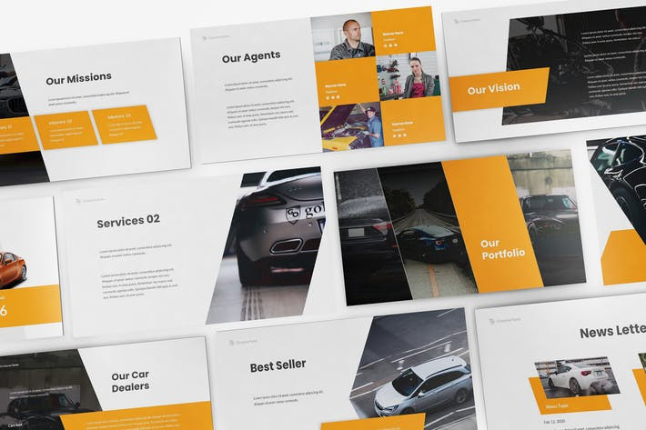 Thumbnail for Car Dealership Powerpoint Template