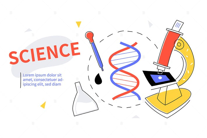 Thumbnail for Science - colorful flat design style web banner