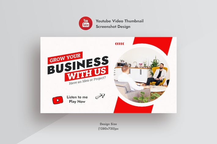 Business & Corporate  YouTube Video Thumbnail AD