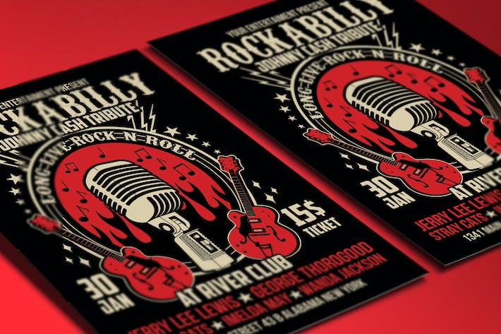 Thumbnail for Rockabilly Music Show Poster Flyer