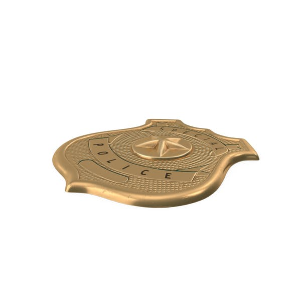 Brass Special Police Badge