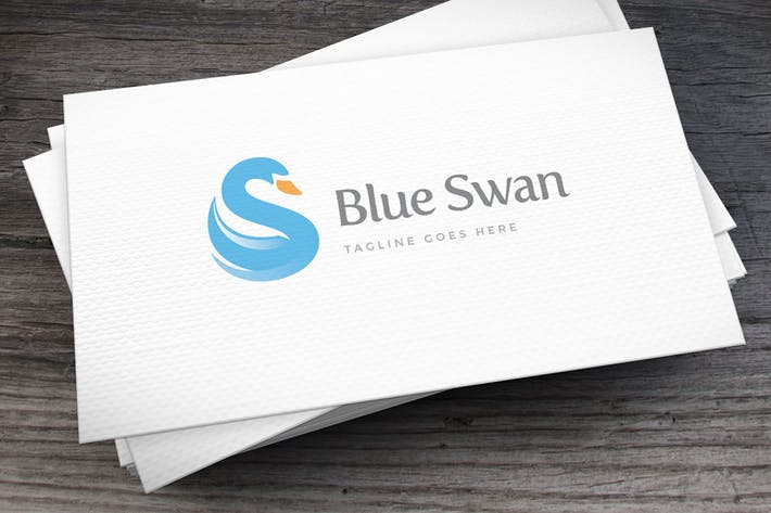 Thumbnail for Blue Swan Letter S Logo Template