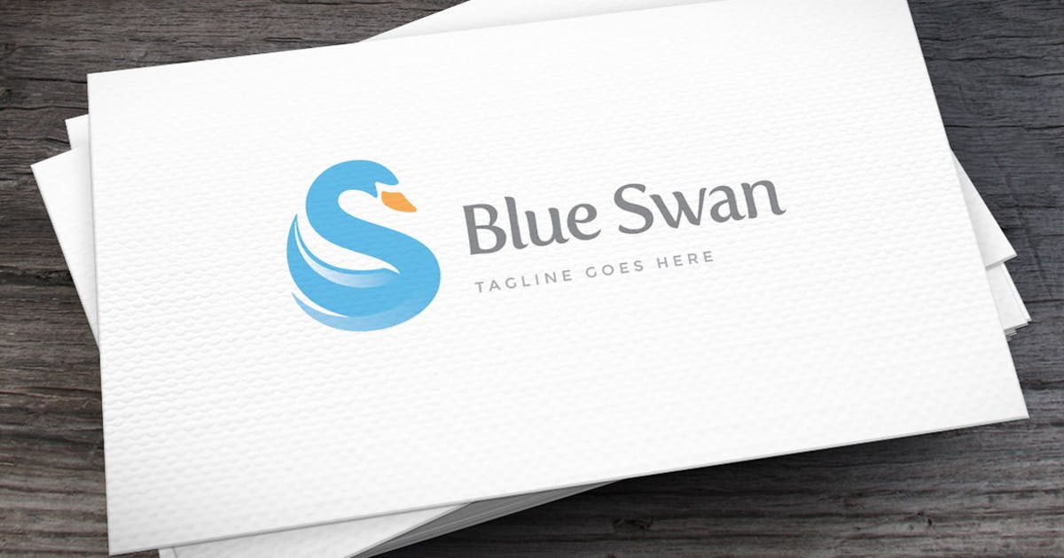 Download Blue Swan Letter S Logo Template by empativo