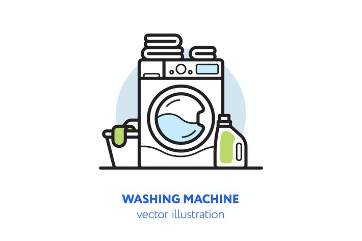 Thumbnail for Washing machine vector illustration