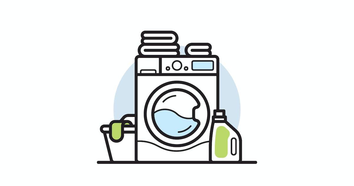 Download Washing machine vector illustration by mir_design