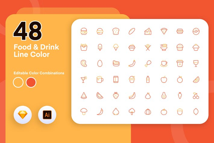 Thumbnail for Food & Drink Line Color