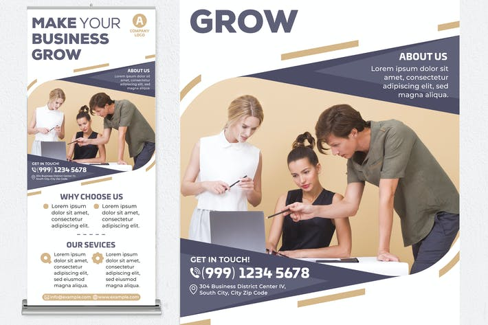 Thumbnail for Make Your Business Grow Roll Up Banner