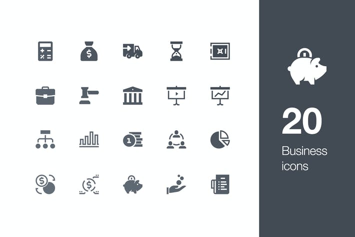 Thumbnail for 20 Business icons
