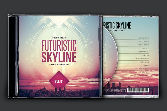 Thumbnail for Futuristic Skyline CD Cover Artwork