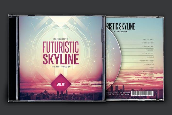 Cover Image For Futuristic Skyline CD Cover Artwork