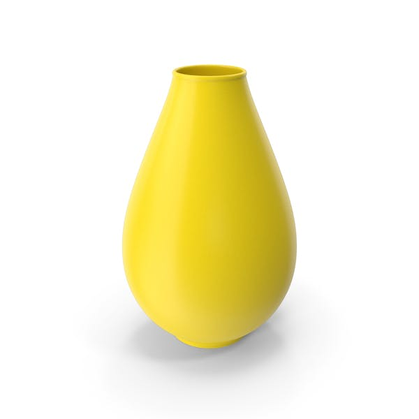 Decorative Vase Yellow