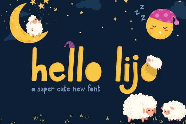 Thumbnail for Hello Lijo Font