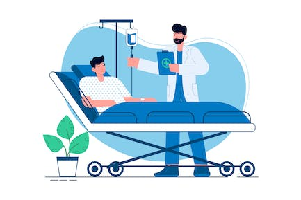 doctor checking patient's health Illustration