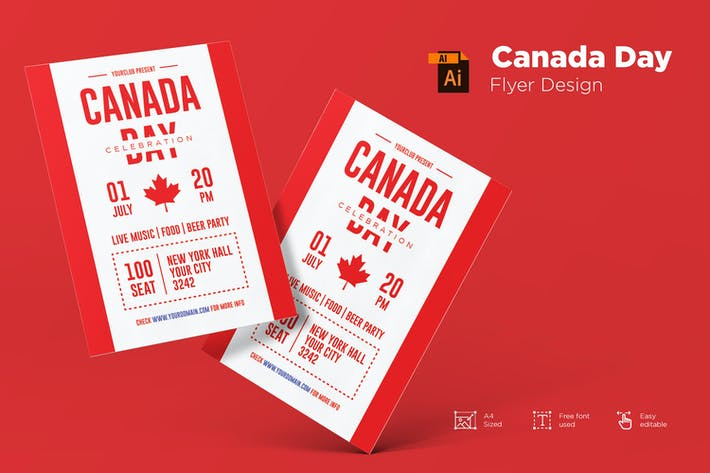 Thumbnail for Canada Day Flyer Template