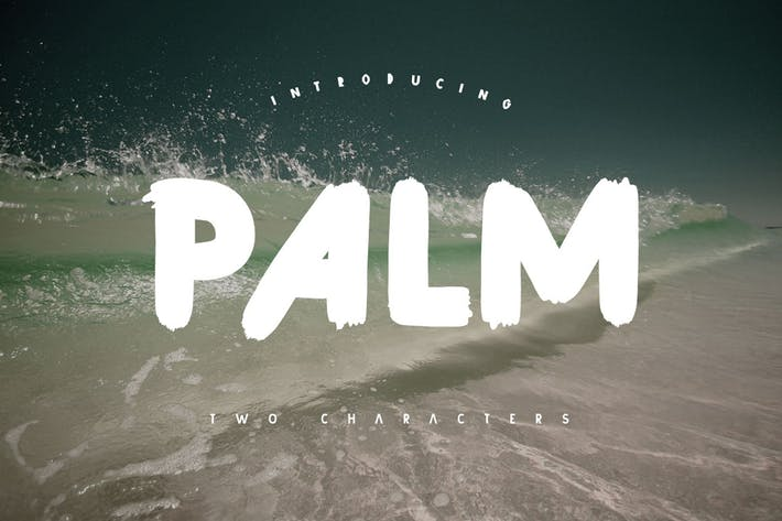 Thumbnail for Palm Brush Font