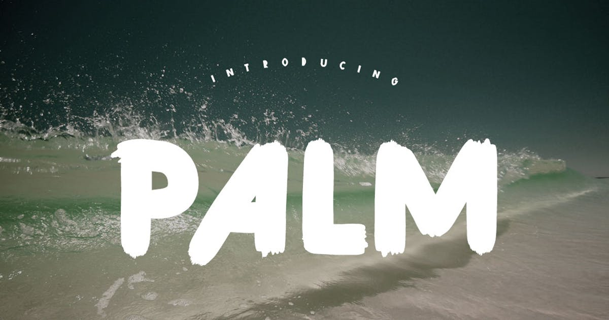 Download Palm Brush Font by maulanacreative