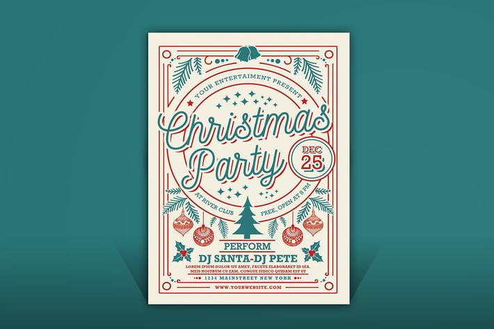 Thumbnail for Christmas Party Flyer Template