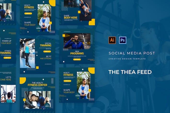 Thumbnail for Thea Healthy Fitness Social Media Feed
