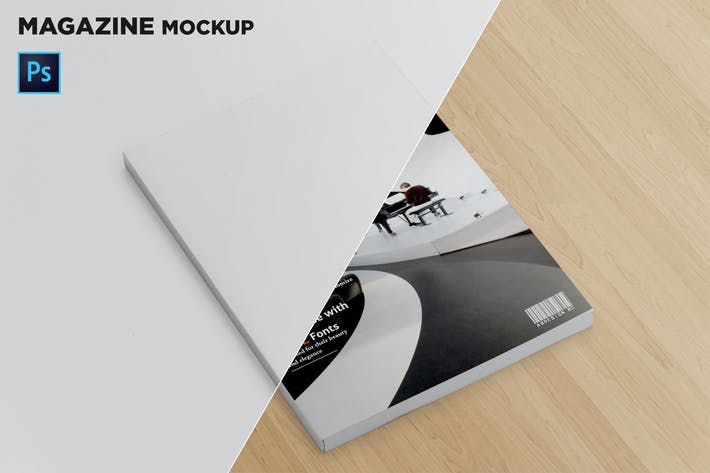 Thumbnail for Magazine Cover Mockup Perspective View