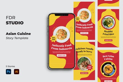 Asian Cuisine Instagram Stories Pack