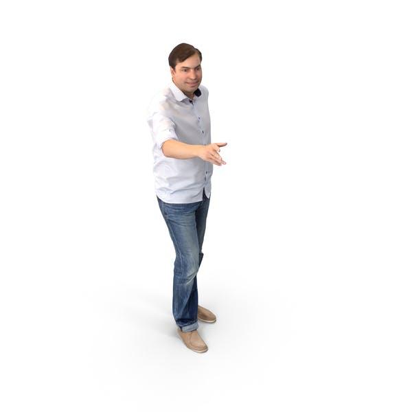 Casual Man Posed