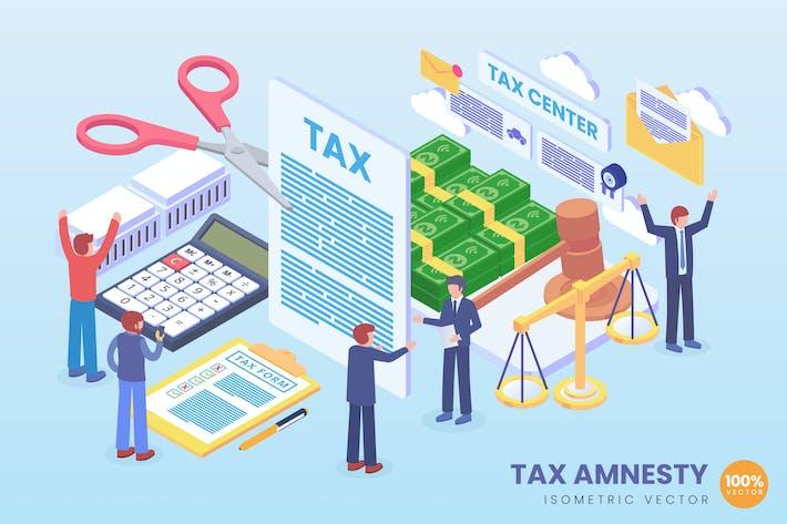 Thumbnail for Concepto Vector de política de amnistía fiscal isométrica