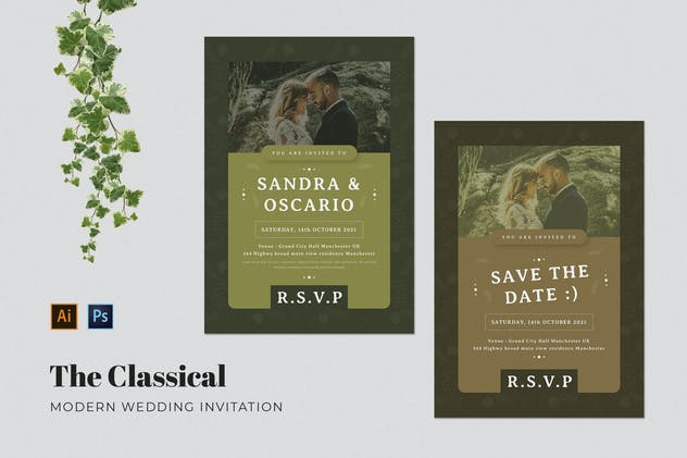 Classical Wedding Invitation