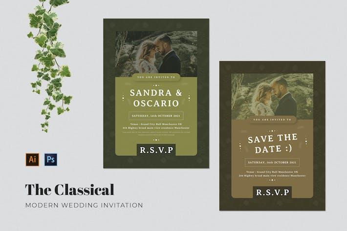 Thumbnail for Classical Wedding Invitation