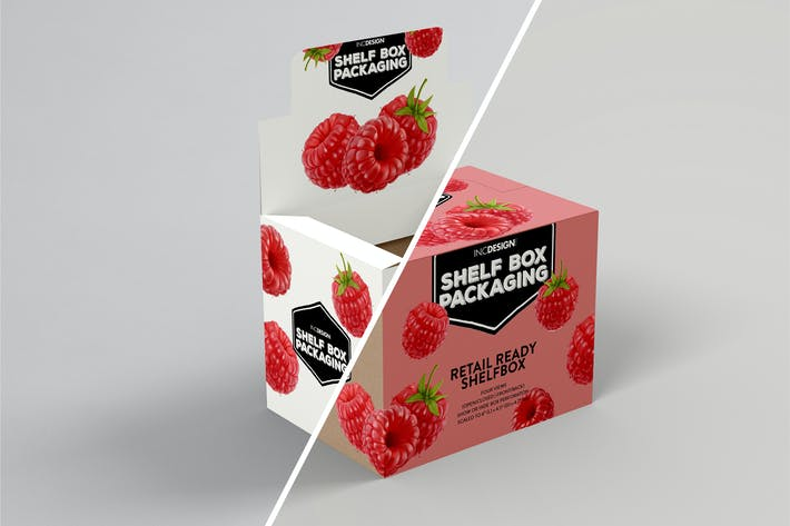 Thumbnail for Retail Shelfbox 14 Verpackung Mockup