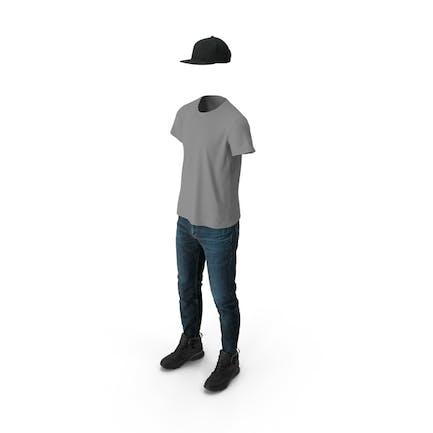 Hose Stiefel T Shirt Cap