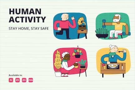 Campaña Stay at Home para personas mayores
