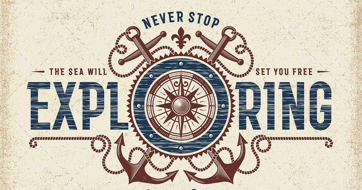 Download Vintage Never Stop Exploring Typography by iatsun