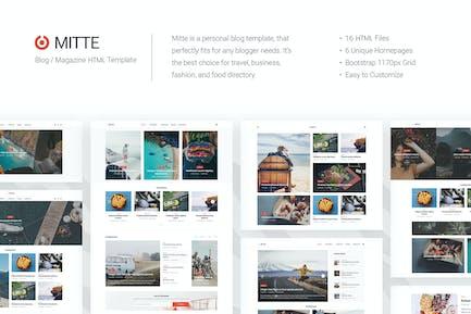 Milbe - Einfache Blog HTML5 Vorlage