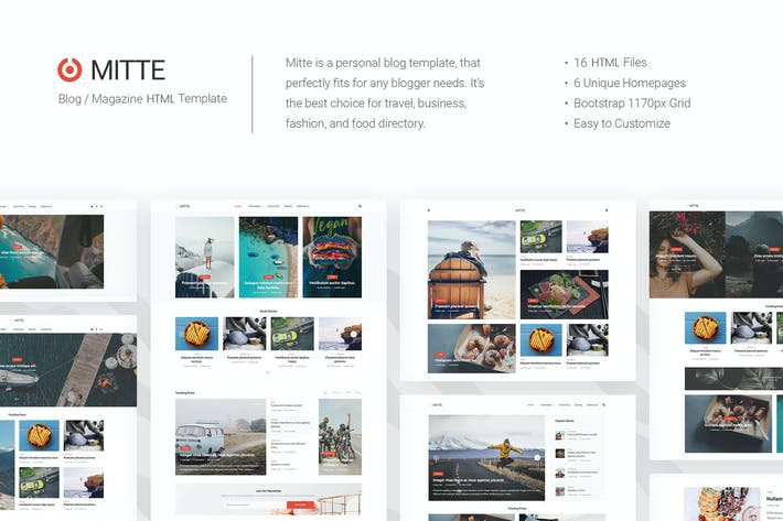 Thumbnail for Mite - Simple Blog HTML5 Template