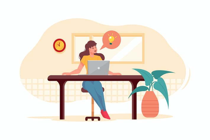 Thumbnail for Businesswoman working on startup plan
