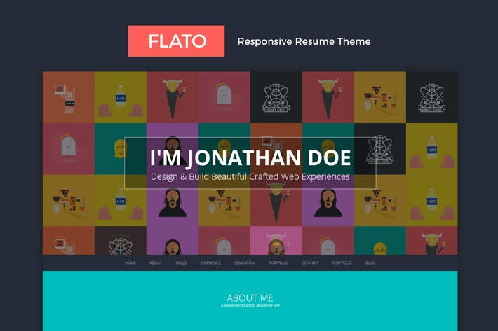 Thumbnail for Flatoo - vCard, Resume, Personal WordPress Theme