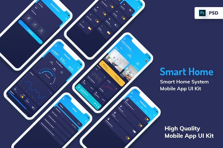 Thumbnail for Smart Home Mobile Aplicación versión oscura