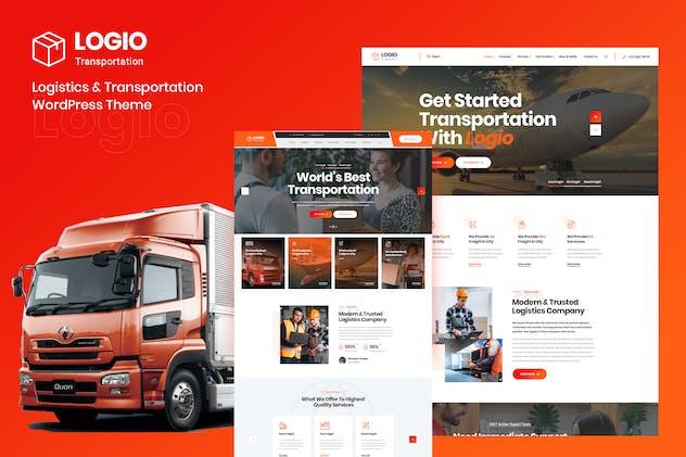 Logio - Logistics & Transport  Elementor WordPress